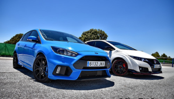Sesion: Ford Focus RS vs Honda Civic Type R turbo